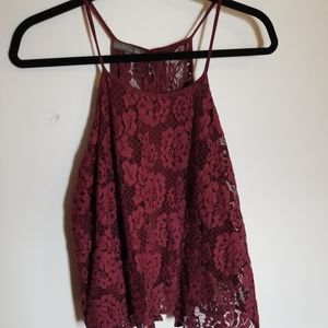 Don't Ask Why Open Back Lace Tank